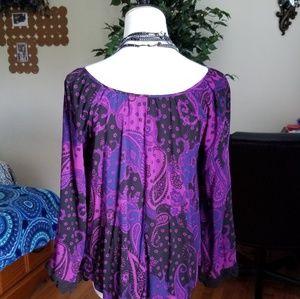 Express Tops - Express purple boho top S
